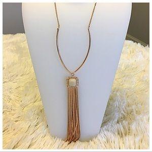JESSICA SIMPSON Rose Gold Tassel Necklace